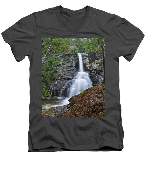 Kent Falls State Park Ct Waterfall Men's V-Neck T-Shirt