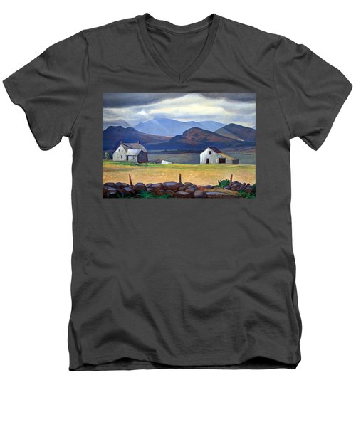 Kent's Adirondacks Men's V-Neck T-Shirt by Cora Wandel