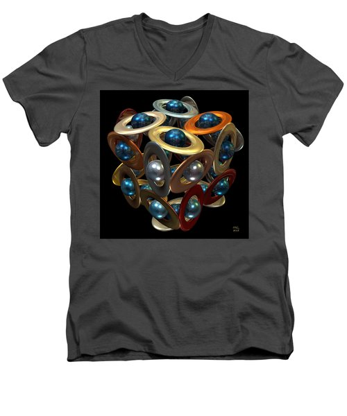 Kepler's Dream Men's V-Neck T-Shirt by Manny Lorenzo