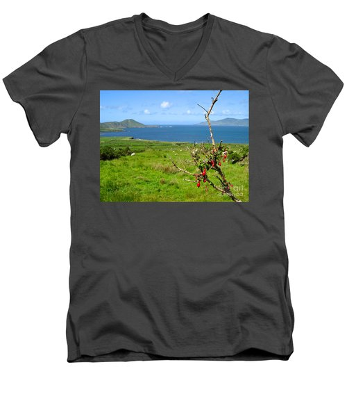 Kerry Me Away Men's V-Neck T-Shirt by Suzanne Oesterling