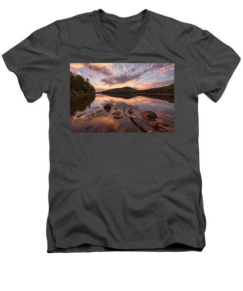 Kettle Pond Sunset Men's V-Neck T-Shirt