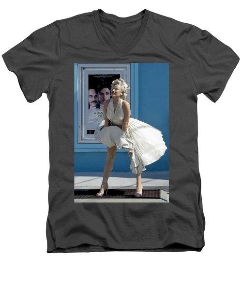 Key West Marilyn Men's V-Neck T-Shirt