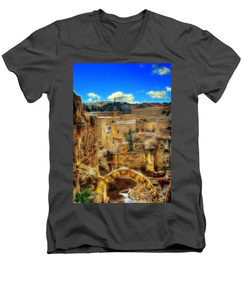 Peaceful Israel Men's V-Neck T-Shirt