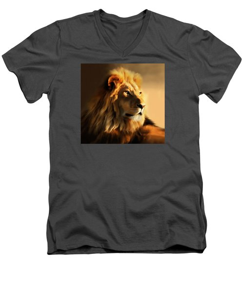 King Lion Of Africa Men's V-Neck T-Shirt