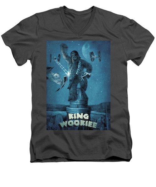 King Wookiee Men's V-Neck T-Shirt by Eric Fan