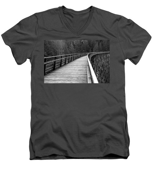 Kinsol Trestle Boardwalk  Men's V-Neck T-Shirt