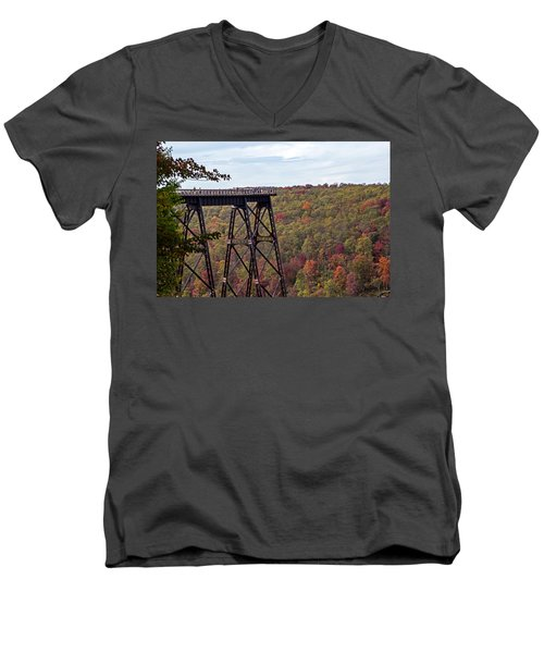 Kinzua Bridge Men's V-Neck T-Shirt