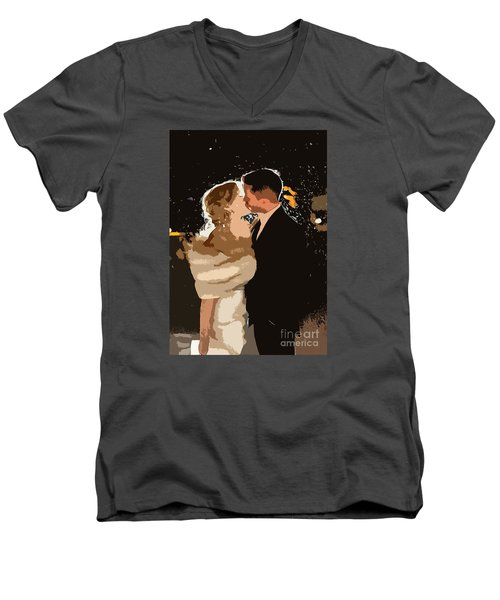 Kiss Men's V-Neck T-Shirt