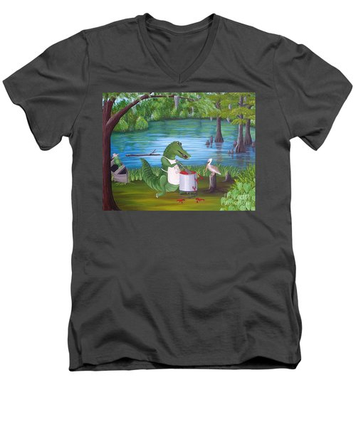 Kiss Da Cook Men's V-Neck T-Shirt