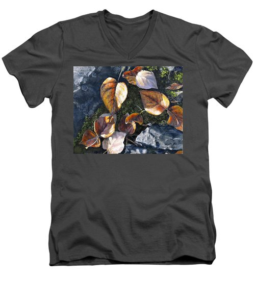 Knik River Autumn Leaves Men's V-Neck T-Shirt