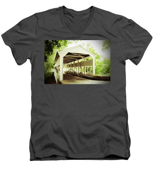 Knox Bridge Men's V-Neck T-Shirt by Michael Porchik
