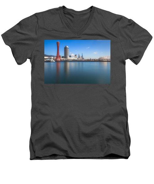 Kobe Port Island Tower Men's V-Neck T-Shirt