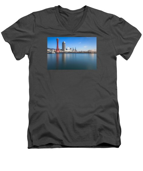 Kobe Port Island Tower Men's V-Neck T-Shirt