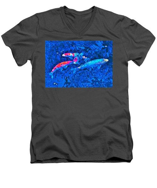 Koi 2 Men's V-Neck T-Shirt by Pamela Cooper