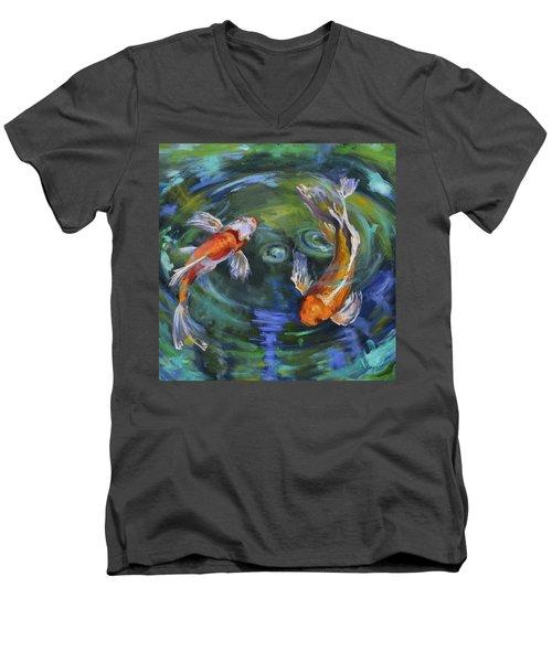 Koi Swirl Men's V-Neck T-Shirt