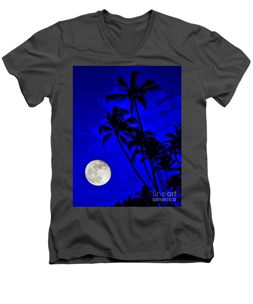 Kona Moon Rising Men's V-Neck T-Shirt