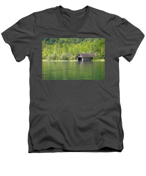Konigsee Boathouse Men's V-Neck T-Shirt