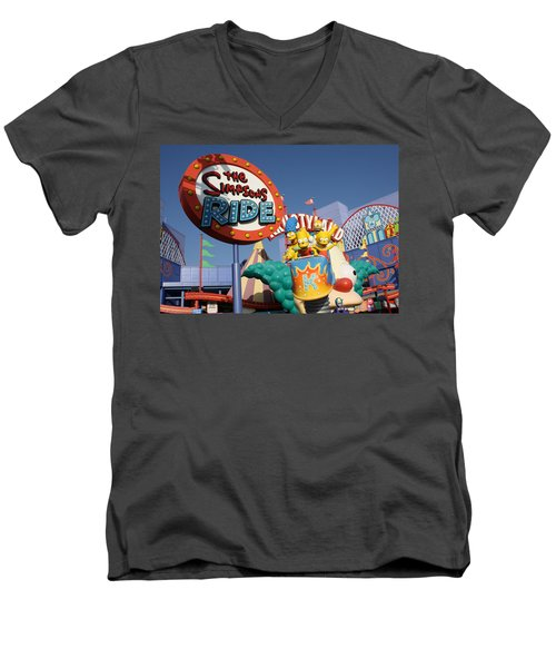 Krusty Men's V-Neck T-Shirt