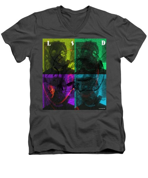 Men's V-Neck T-Shirt featuring the photograph L S D  Part One by Sir Josef - Social Critic - ART