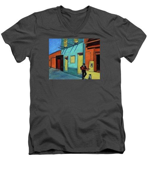 La Boca Morning II Men's V-Neck T-Shirt by Xueling Zou