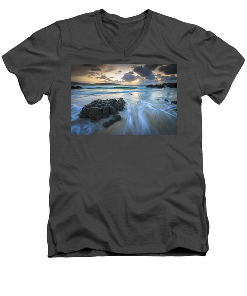 La Fragata Beach Galicia Spain Men's V-Neck T-Shirt