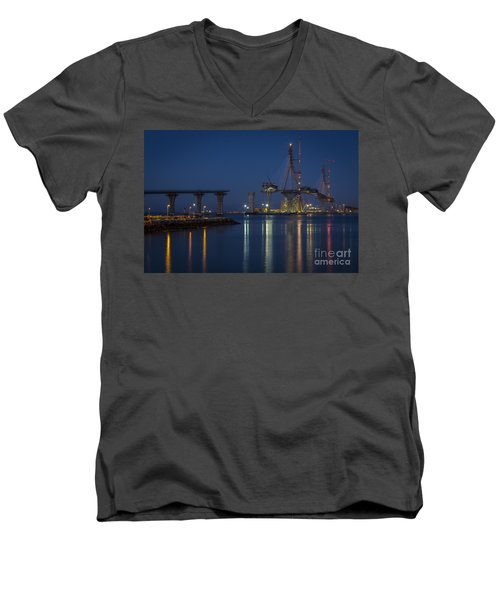 La Pepa Bridge Cadiz Spain Men's V-Neck T-Shirt