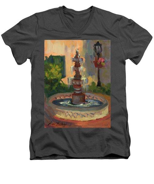 La Quinta Resort Fountain Men's V-Neck T-Shirt