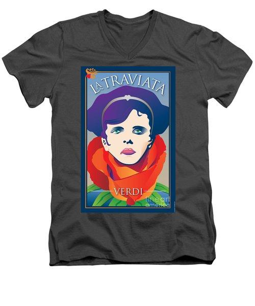La Traviata Opera Men's V-Neck T-Shirt