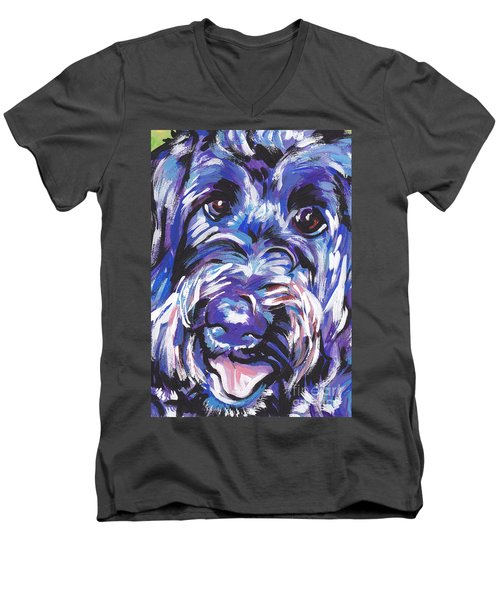 Labra Doodly Do Men's V-Neck T-Shirt