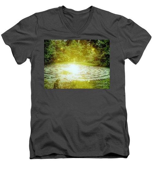 Labyrinth Myth And Mystical Men's V-Neck T-Shirt