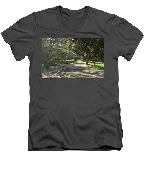Labyrinth Retreat Men's V-Neck T-Shirt by Michele Myers