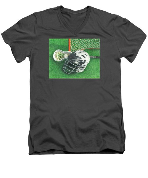 Lacrosse Men's V-Neck T-Shirt
