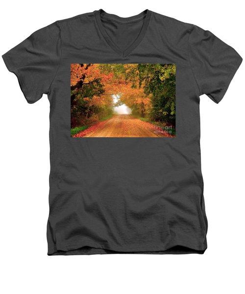 Lady Autumn Men's V-Neck T-Shirt