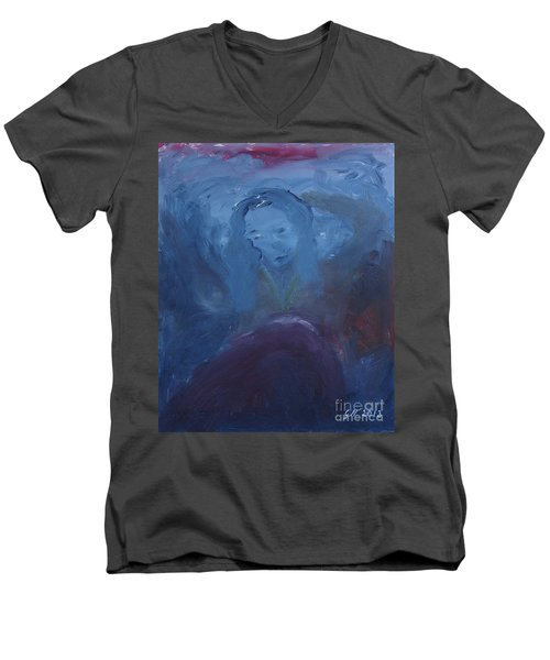 Lady Blue Men's V-Neck T-Shirt