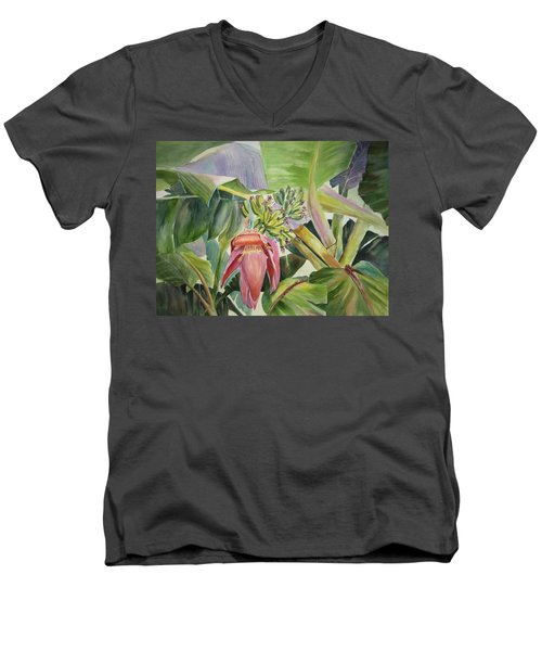 Lady Fingers - Banana Tree Men's V-Neck T-Shirt