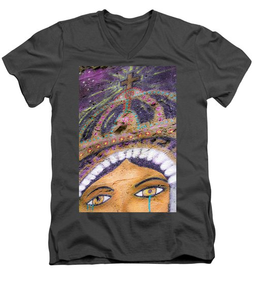 Men's V-Neck T-Shirt featuring the photograph Lady Of Tears by Steven Bateson
