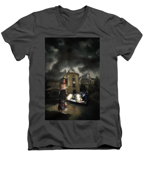 Lady Of The Night Men's V-Neck T-Shirt by Nathan Wright