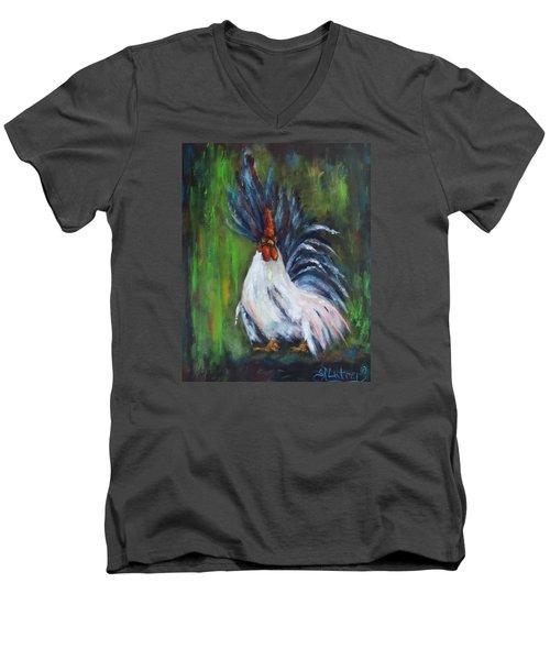 Lady Pleaser, Rooster  Men's V-Neck T-Shirt