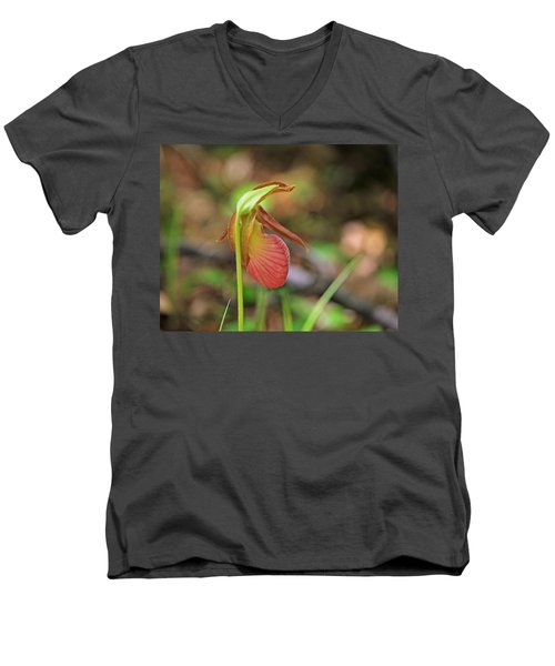 Lady Slippers At Moore State Park 4 Men's V-Neck T-Shirt
