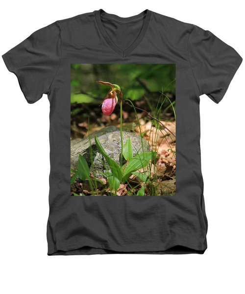 Lady Slippers At Moore State Park 3 Men's V-Neck T-Shirt