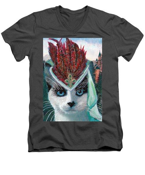 Lady Snowshoe Men's V-Neck T-Shirt