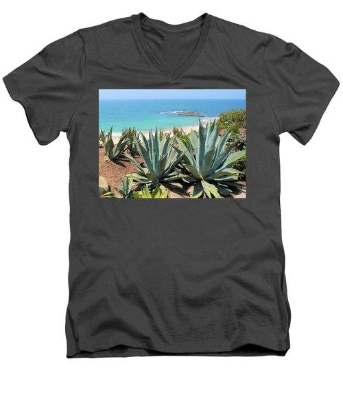 Laguna Coast With Cactus Men's V-Neck T-Shirt