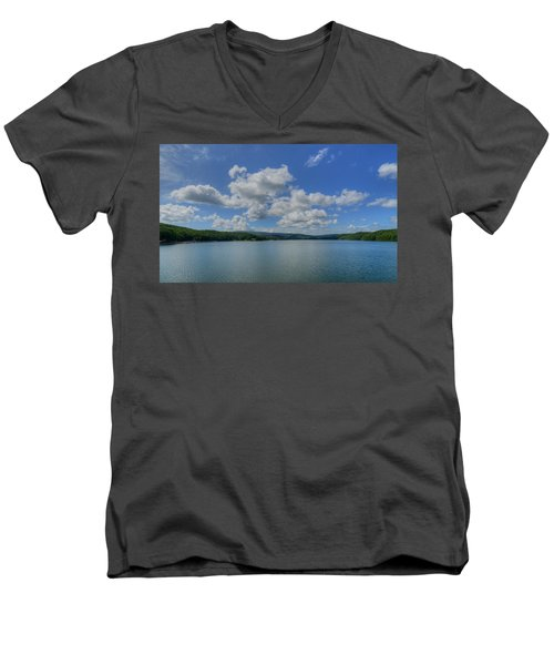 Men's V-Neck T-Shirt featuring the photograph Lake Arrowhead by Julia Wilcox