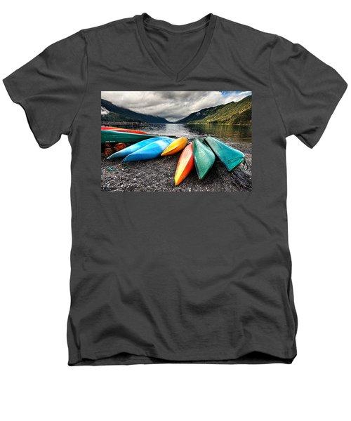 Lake Crescent Kayaks Men's V-Neck T-Shirt
