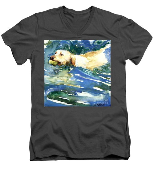 Lake Effect Men's V-Neck T-Shirt by Molly Poole