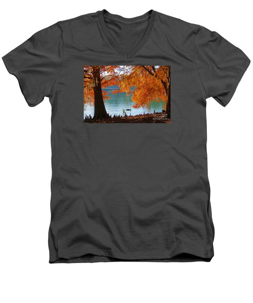 Lake Ella Morning Men's V-Neck T-Shirt