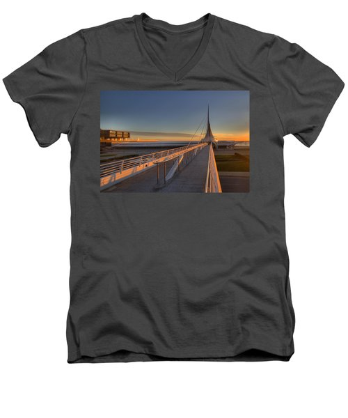Lake Front View Men's V-Neck T-Shirt