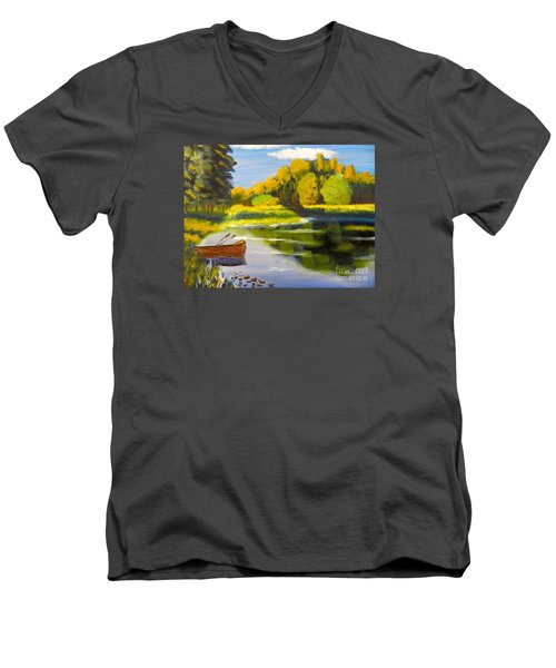 Lake Illawarra At Primbee Men's V-Neck T-Shirt