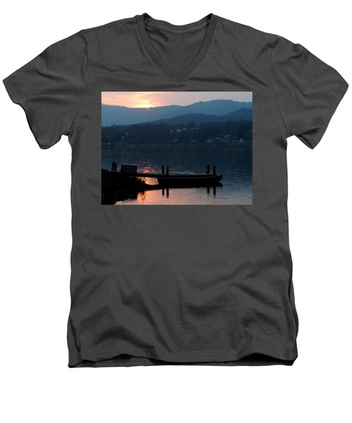 Lake J Sunset Men's V-Neck T-Shirt