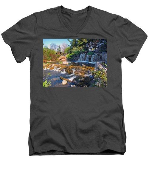 Lake Katherine 1 Men's V-Neck T-Shirt by Cedric Hampton